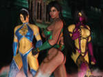 Mortal kombat wallpaper-Kitana/Mileena/Jade