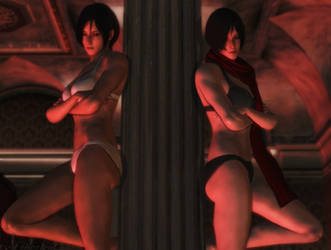 Resident evil wallpaper - Ada and Carla by ethaclane