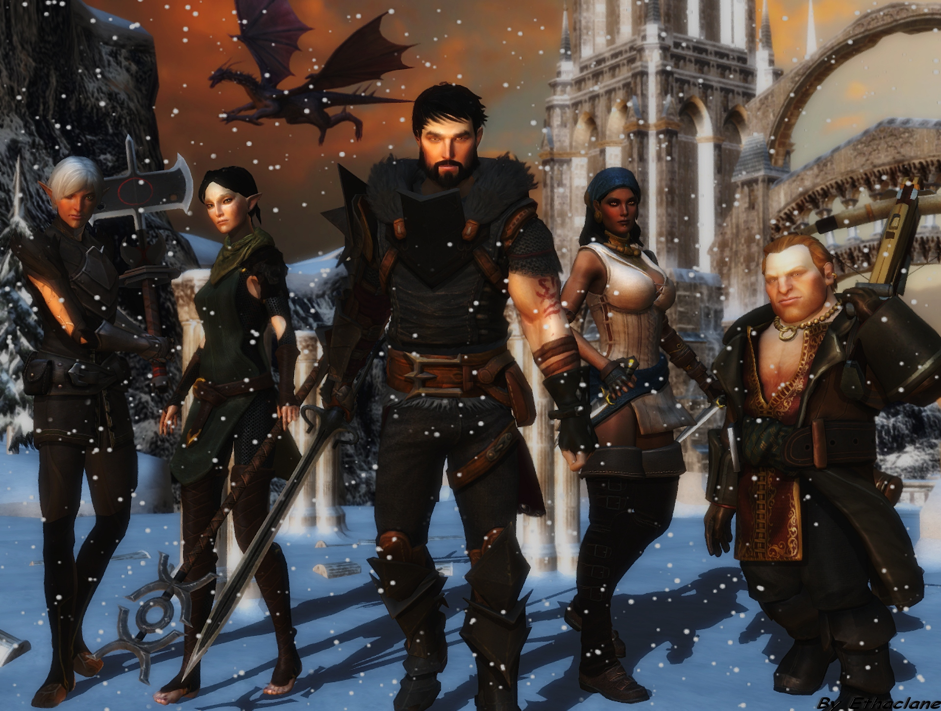 Dragon Age Wallpaper by ethaclane