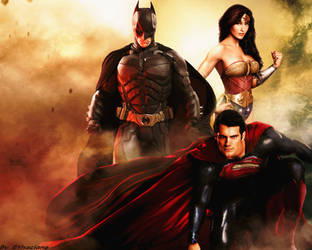 Justice league trinity wallpaper by ethaclane
