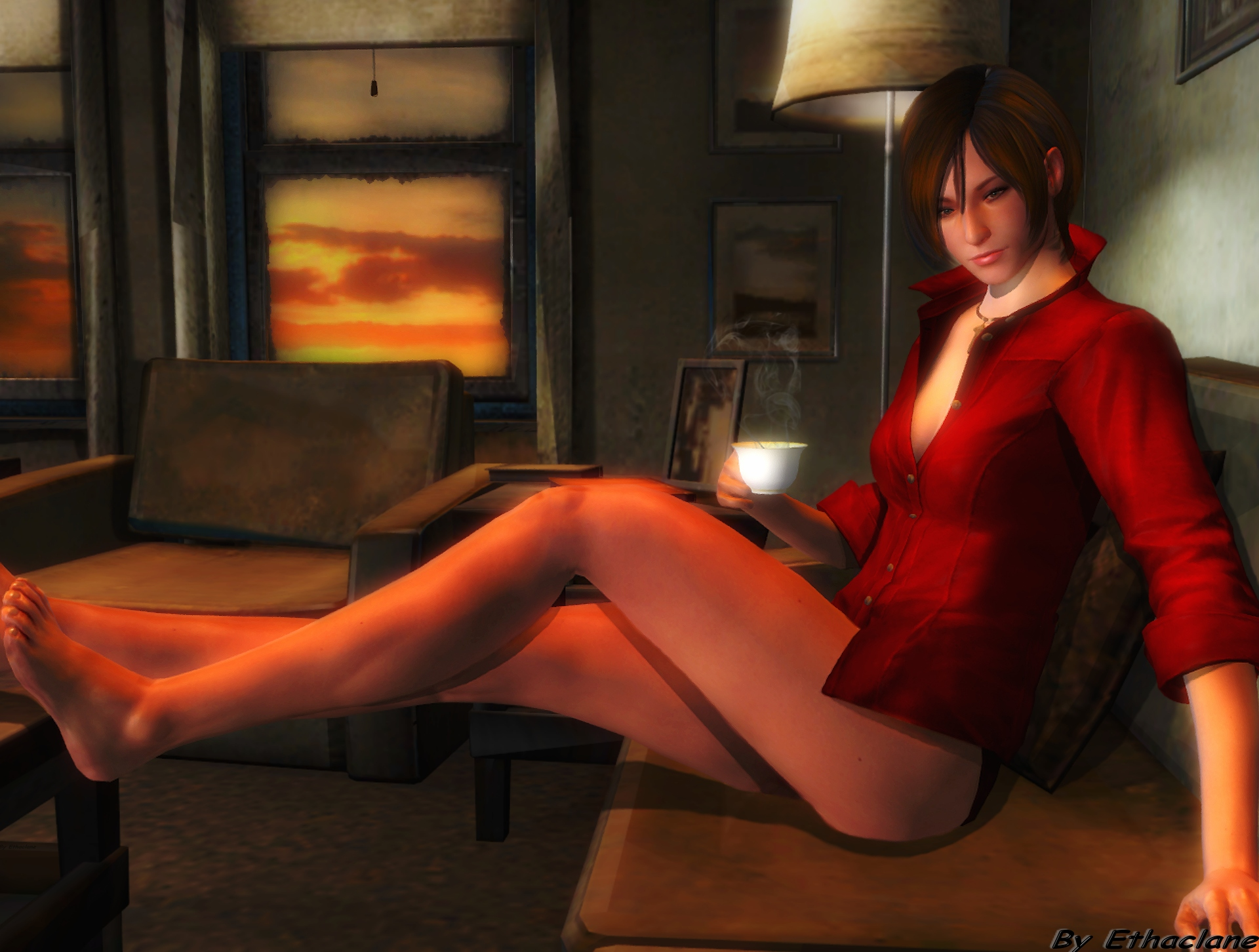 Resident evil leon ada anime porno nude clip