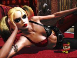 Batman Arkham city wallpaper - Harley Quinn by ethaclane
