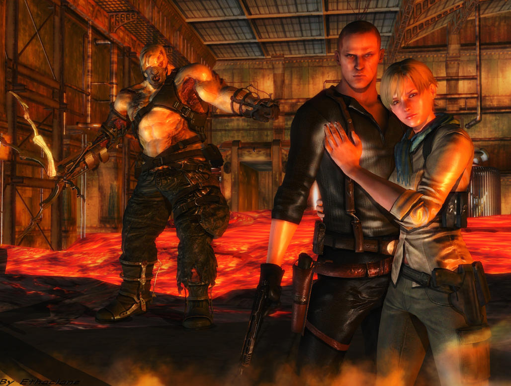 Resident evil wallpaper Jake and Sherry 6 by ethaclane