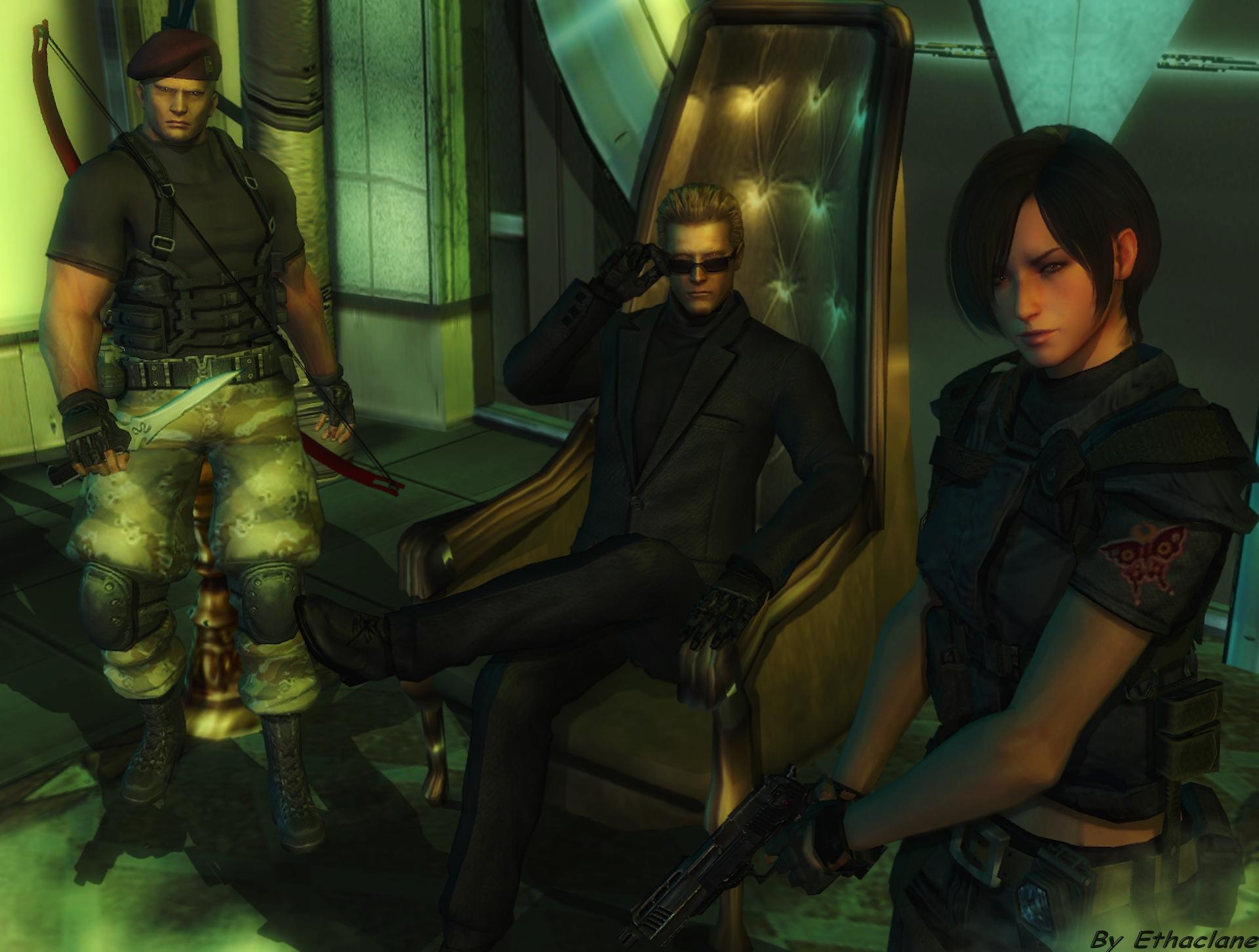 Resident evil wallpaper - Ada/Wesker/Krauser by ethaclane