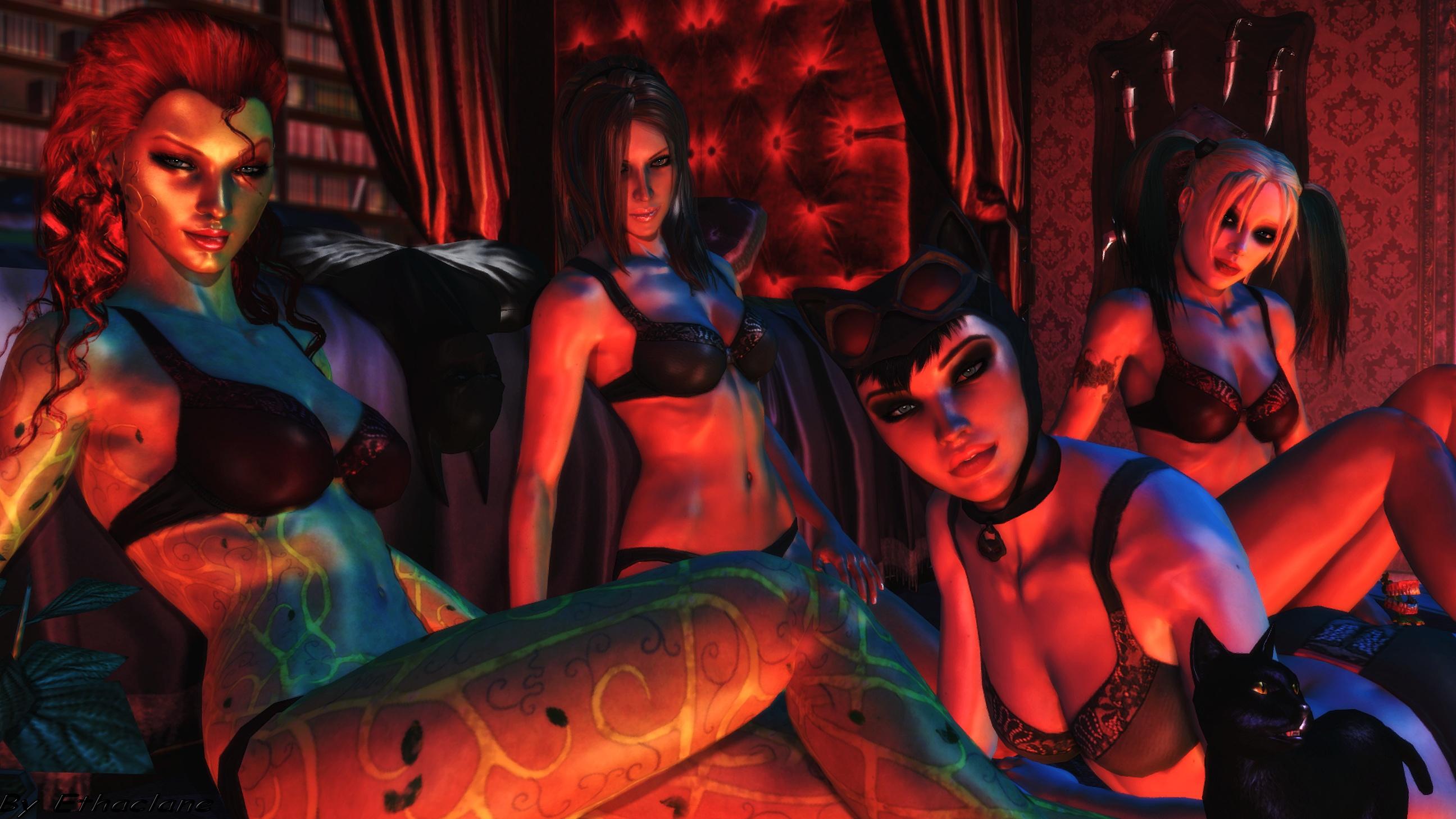 Batman Arkham City Wallpaper Arkham Hotties By Ethaclane On