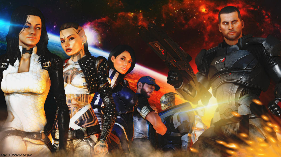 Mass effect wallpaper - (Maleshep version) by ethaclane