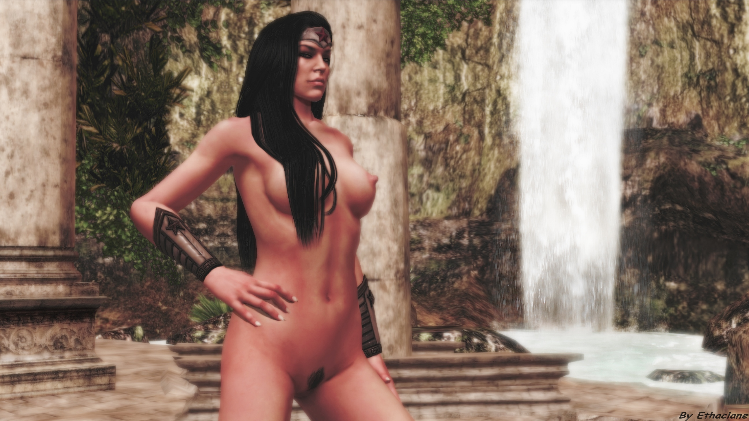 Wonder woman 3d model naked exposed galleries