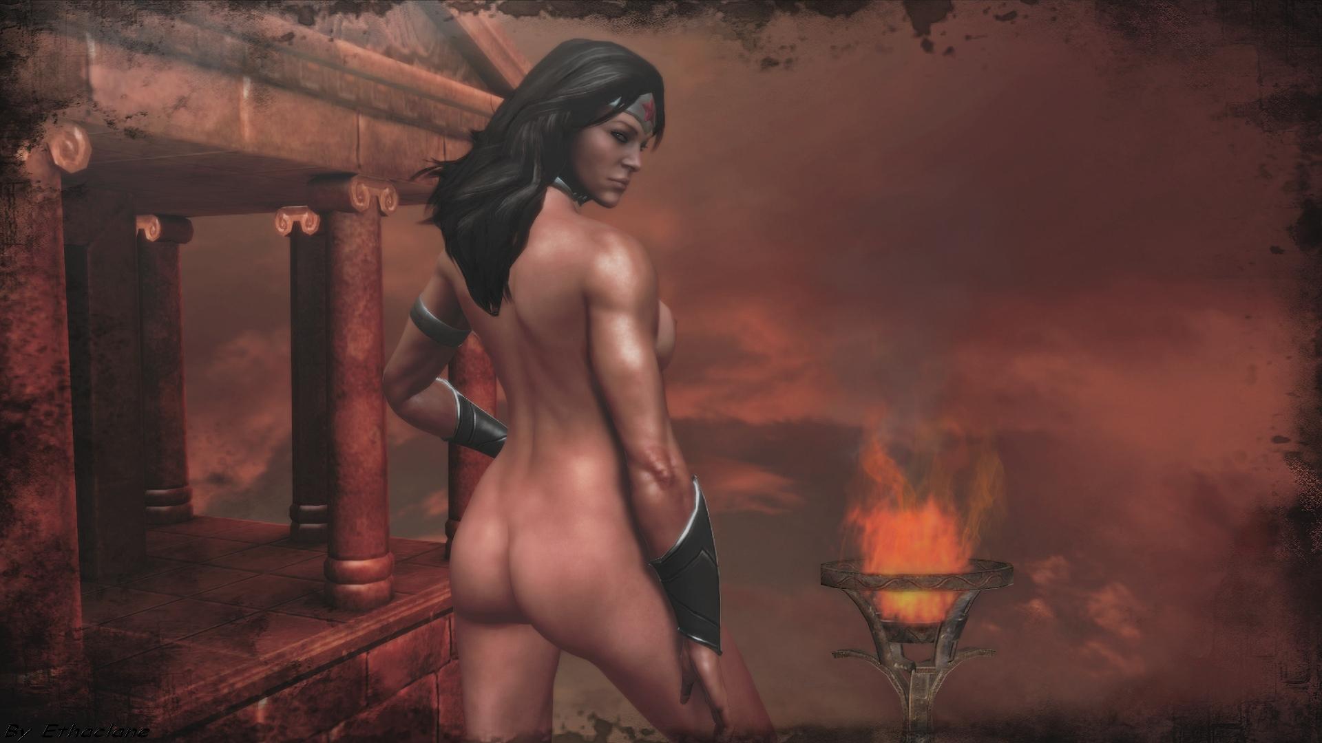 3d wonder woman nude cartoon vintage girl