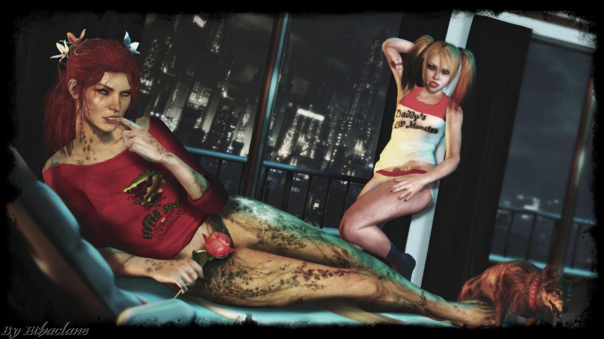 Arkham Knight - Sexy Harley and Ivy  wallpaper by ethaclane