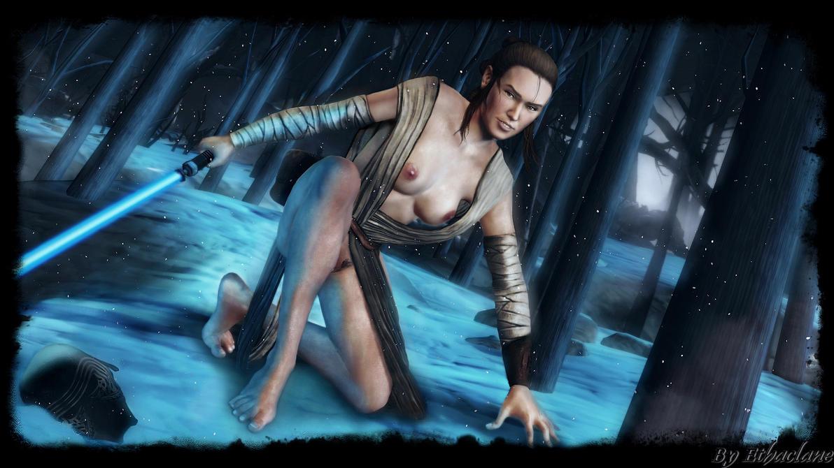 Star Wars - sexy Rey wallpaper 2 by ethaclane