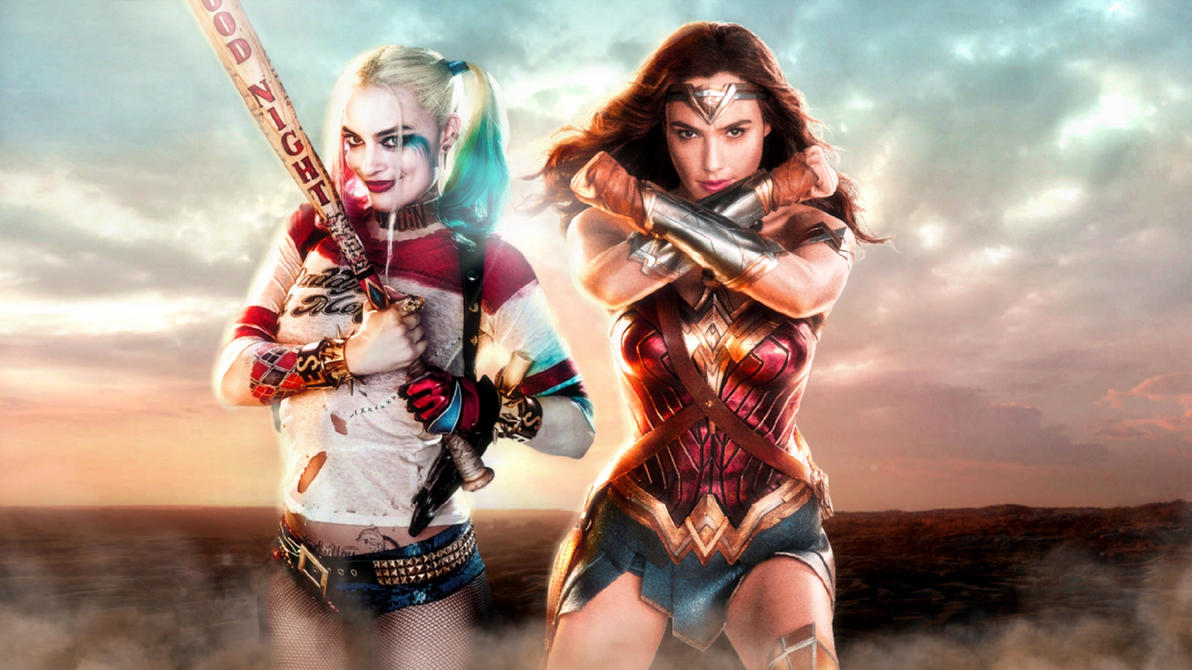 Wonder Woman and Harley Quinn wallpaper by ethaclane