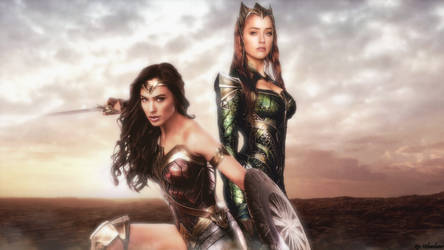 Wonder Woman and Mera wallpaper