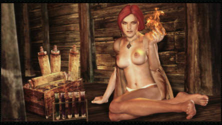 The Witcher - Triss Merigold by ethaclane