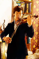 Playing Violin by Arkarti