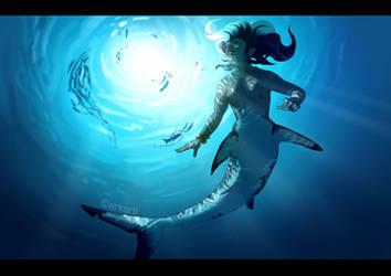 Shark Mermaid by Arkarti