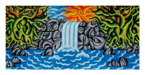 Waterfall Abstract V2