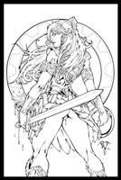 Xena Warrior Princess Inks by JL-Straw by TheInkPages