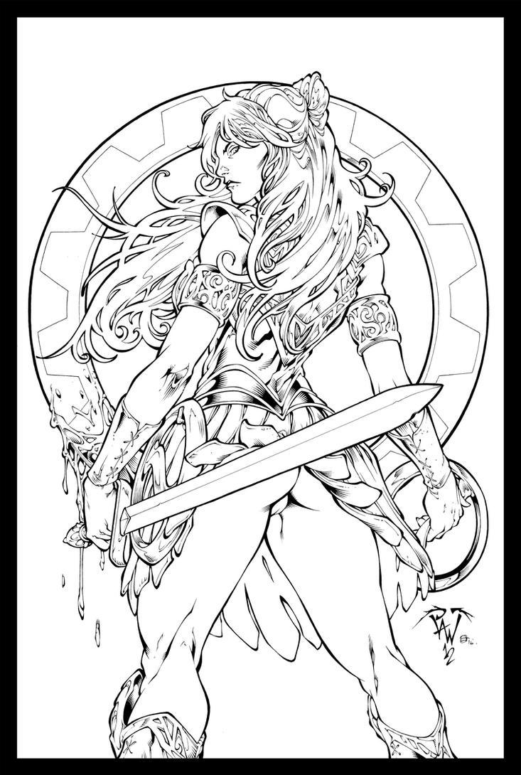 Xena Warrior Princess Inks By JL Straw TheInkPages