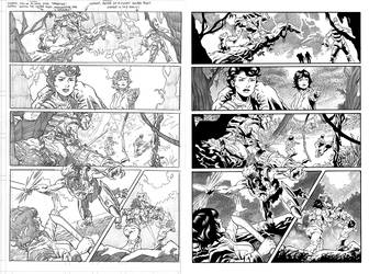 Halo Lone Wolf Issue 1 Pg 11 Inks by TheInkPages