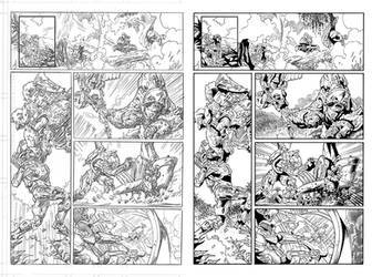Halo Lone Wolf Issue 2 Pg 11 Inks by TheInkPages