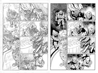 Halo Lone Wolf Issue 2 Pg 13 Inks by TheInkPages