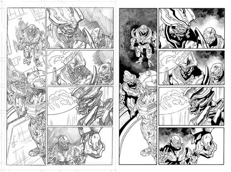 Halo Lone Wolf Issue 2 Pg 13 Inks