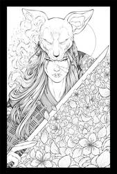 Sphynx Samurai Inks by TheInkPages