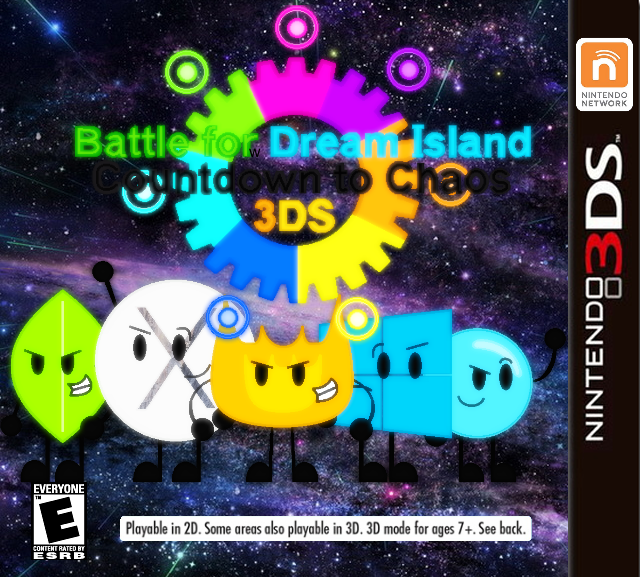 BFDI Countdown to Chaos 3DS Cover by AgentEliteFirey on DeviantArt