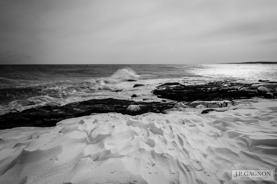 Winter Tundra Meets The Sea. by JPGagnon
