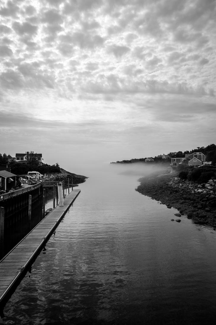Foggy seas by JPGagnon