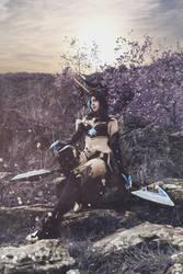 Evelynn Shadow cosplay by Bahamut95