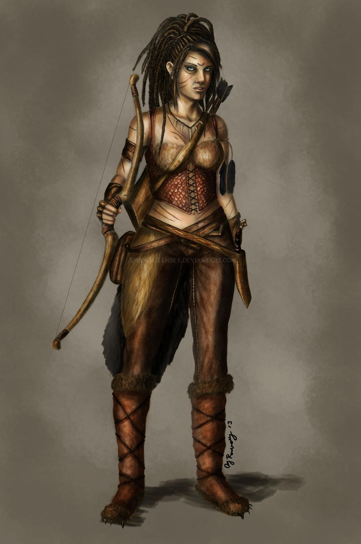 Fantasy Series: Human Huntress by AmandaRamsey