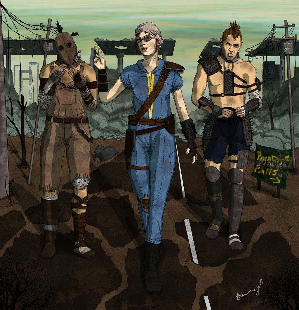 Fallout 3 Fan Art: Fallout 3: Journey To Paradise Falls By AmandaRamsey On