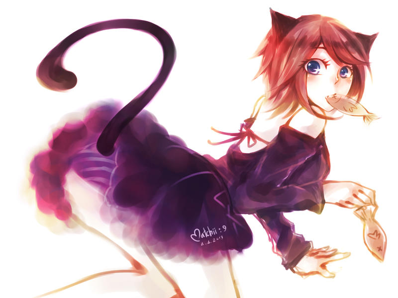 Cat girl 3 by xmatchii on deviantart