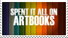 Spent it all on Artbooks Stamp by Jhas777