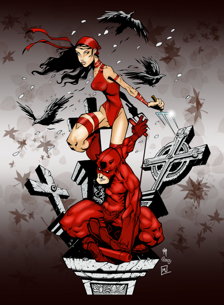 Daredevil and Elektra by Petulo