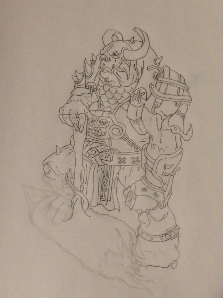 Incomplete sketch: battle ogre by comicrockstar