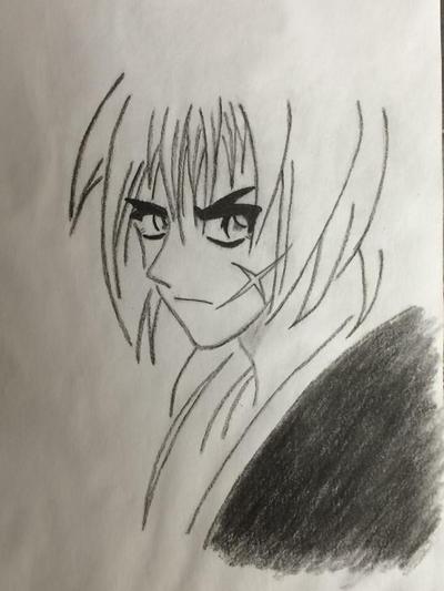 Charcoal: Rarouni Kenshin by comicrockstar