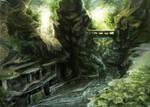 Deserted place - speedpaint