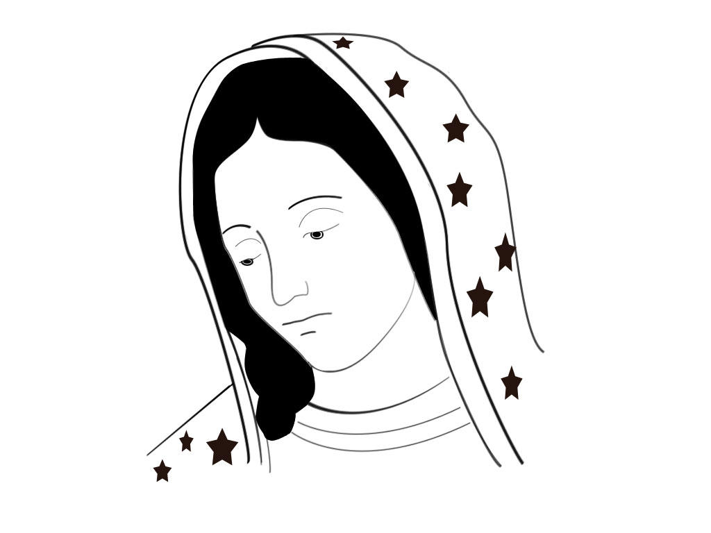 La virgen de guadalupe drawings new calendar template site for Step by step drawing websites