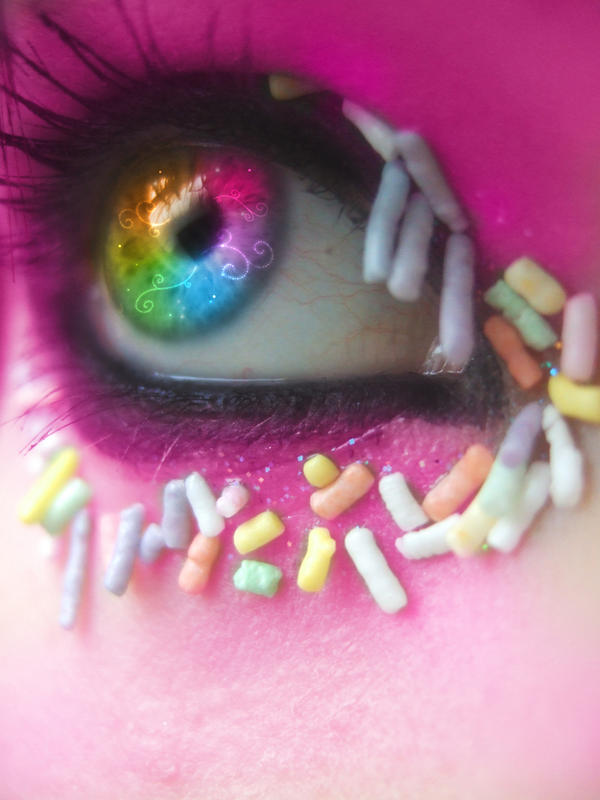 .:My eyes... rainbow version:. by Lemonlini