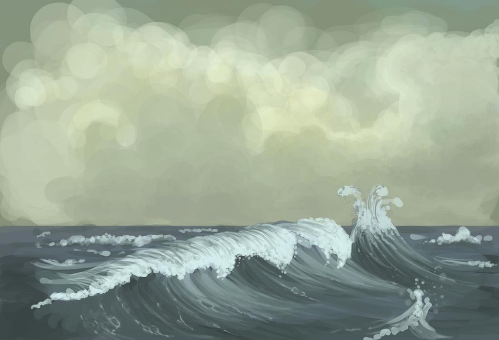 Rough Seas - Speed Paint by shekiahjoy