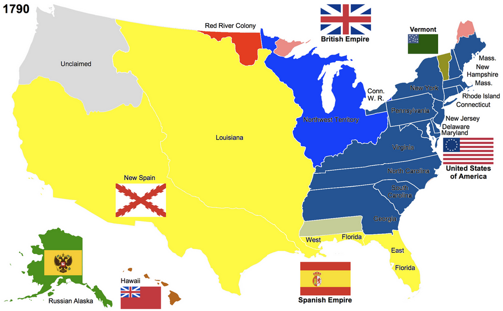 The United States By Hillfighter On DeviantArt - Map of us in 1790