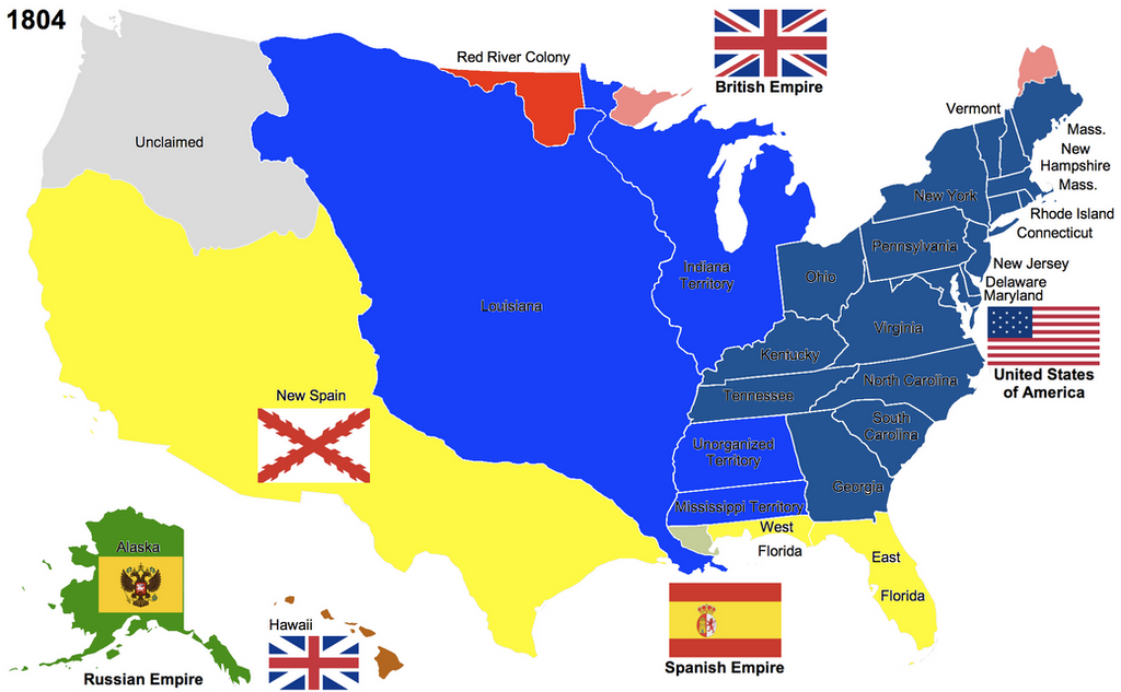 The United States By Hillfighter On Deviantart Map Of Us In 1804