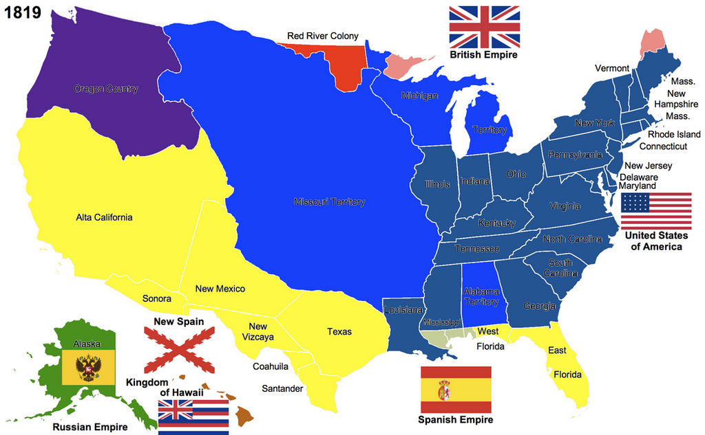 The United States By Hillfighter On DeviantArt - Us map 1819