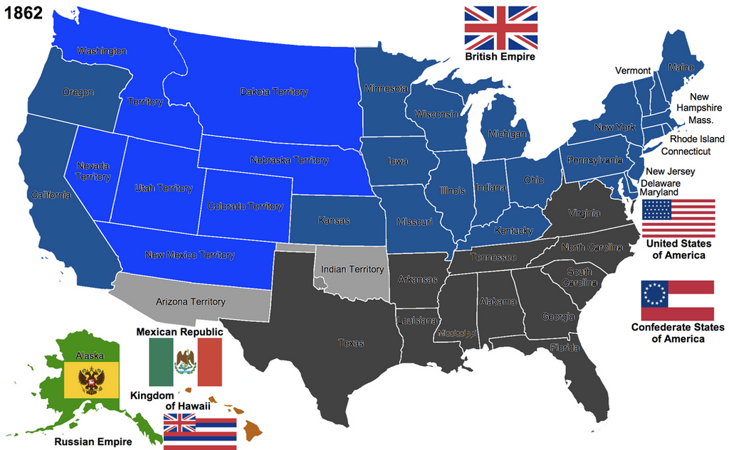 The United States By Hillfighter On DeviantArt - The confederate states us territories and united states map