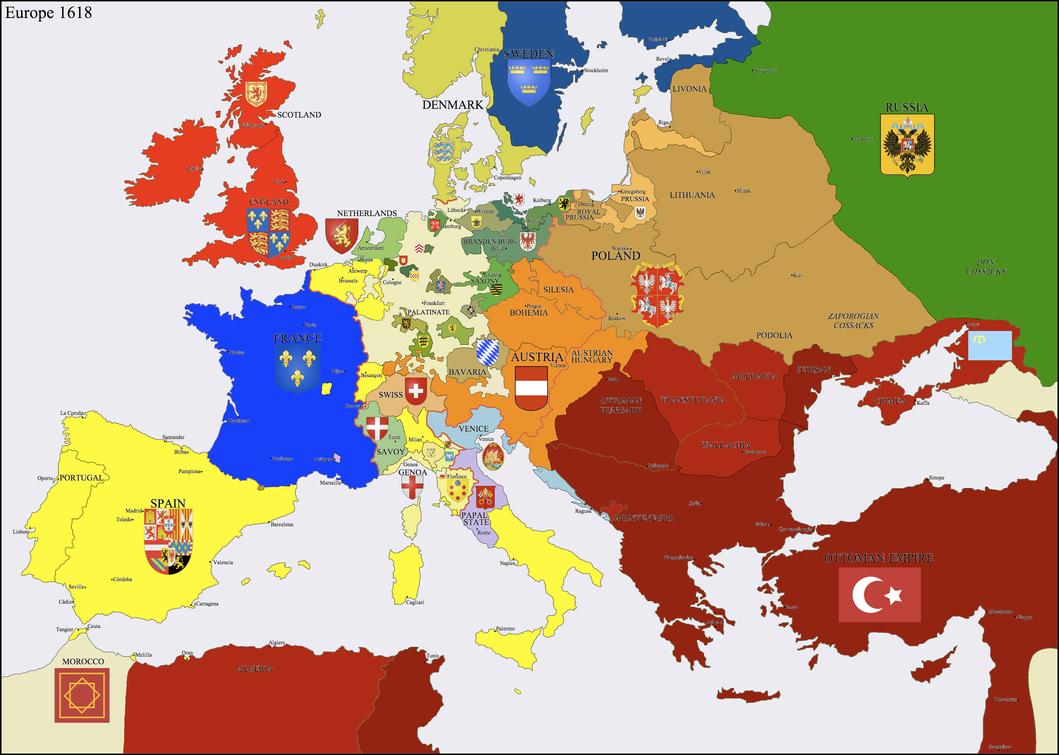Europe 1618 by Hillfighter on DeviantArt