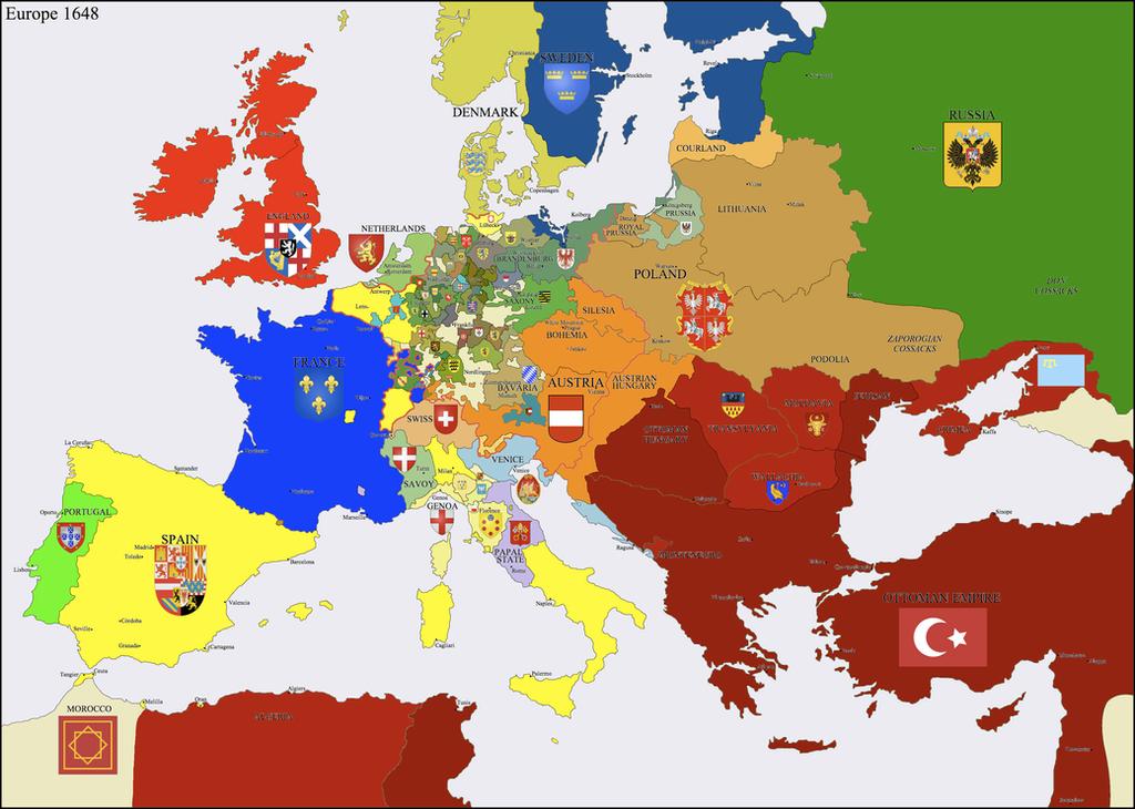 Pin Europe in 1648 peace of westphalia on Pinterest