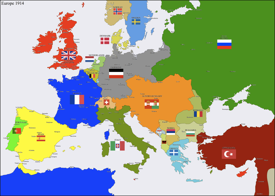 Europe 1914 by Hillfighter on DeviantArt