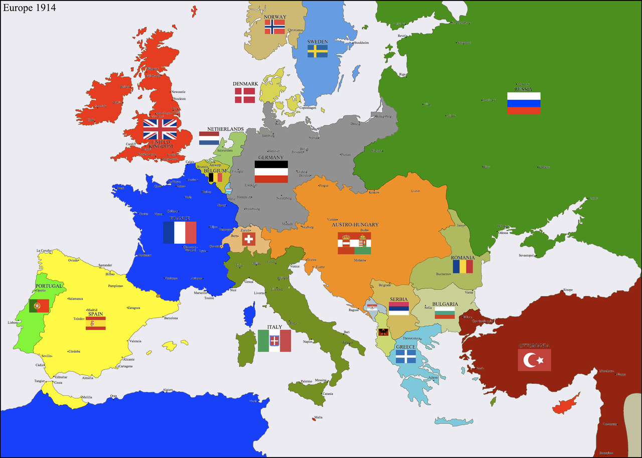 Europe 1914 by HillfighterBulgarian Flag 1914